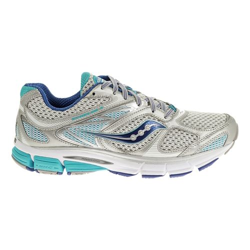 Womens Saucony Echelon 4 Running Shoe - Silver/Blue 9