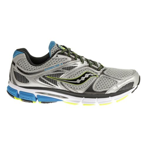 Mens Saucony Echelon 4 Running Shoe - Silver/Blue 9