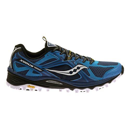 Mens Saucony Xodus 5.0 Trail Running Shoe - Blue/Black 12.5