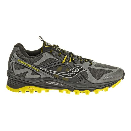 Mens Saucony Xodus 5.0 Trail Running Shoe - Grey/Black 13