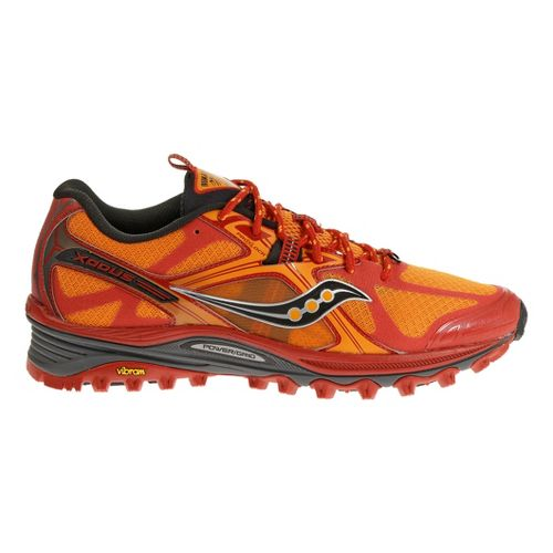 Mens Saucony Xodus 5.0 Trail Running Shoe - Orange/Red 14