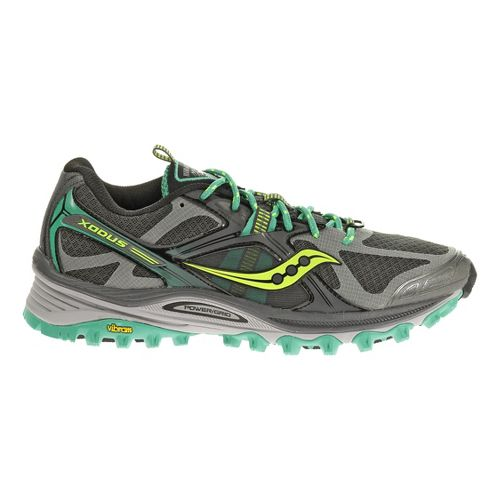 Womens Saucony Xodus 5.0 Trail Running Shoe - Grey/Green 10.5