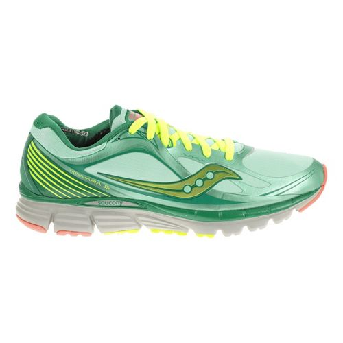 Womens Saucony Kinvara 5 RUNSHIELD Running Shoe - Green/Citron 11.5