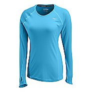 Womens Saucony Velocity Long Sleeve No Zip Technical Tops
