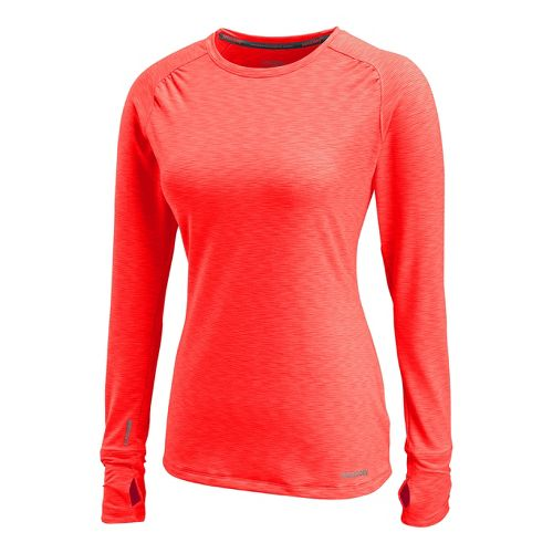 Womens Saucony Swift Long Sleeve No Zip Technical Tops - Vizipro/Electric M