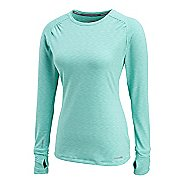 Womens Saucony Swift Long Sleeve No Zip Technical Tops