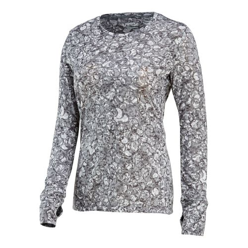 Womens Saucony Daybreak Long Sleeve No Zip Technical Tops - Element/Print L