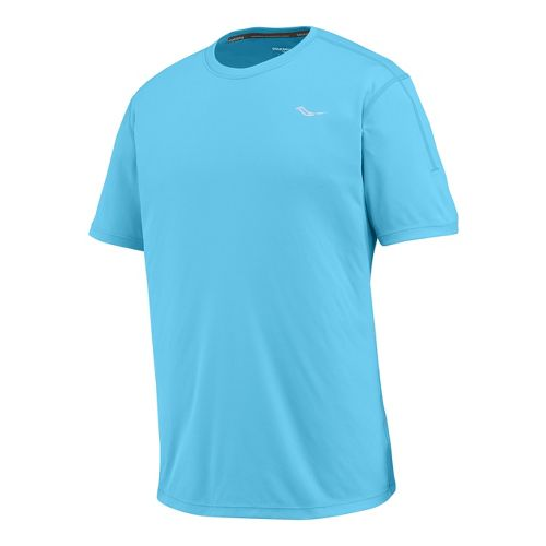 Mens Saucony Velocity Short Sleeve Technical Tops - Blue Fire XL