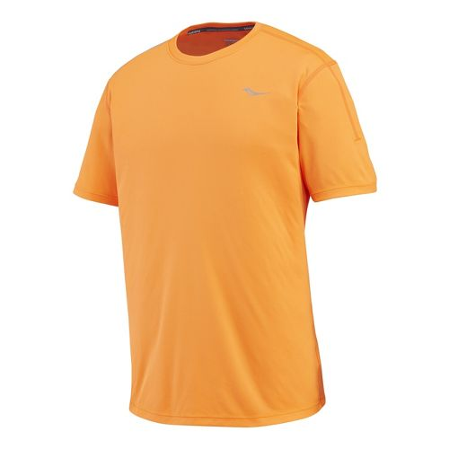 Mens Saucony Velocity Short Sleeve Technical Tops - Vizipro M