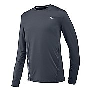 Mens Saucony Premium Tech Long Sleeve No Zip Technical Tops