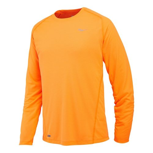 Mens Saucony Hydralite Long Sleeve No Zip Technical Tops - Vizipro Citron L