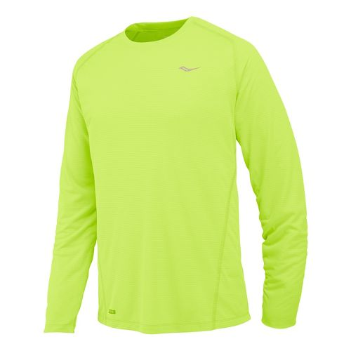 Mens Saucony Hydralite Long Sleeve No Zip Technical Tops - Vizipro Orange XL