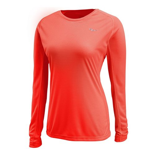 Womens Saucony Hydralite Long Sleeve No Zip Technical Tops - Vizipro Electric L
