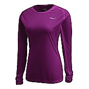 Womens Saucony Hydralite Long Sleeve No Zip Technical Tops