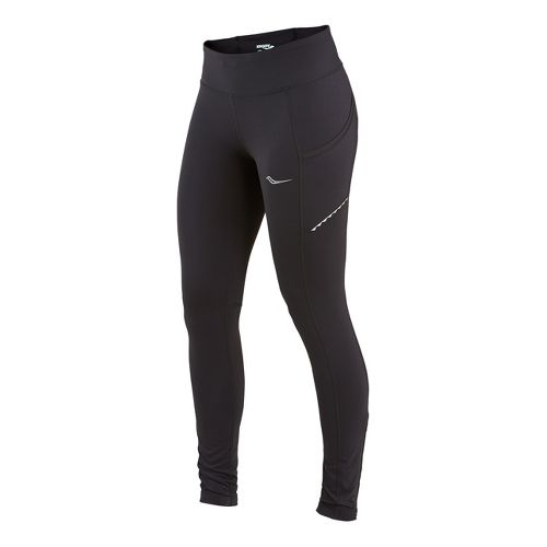 Womens Saucony Bullet Fitted Tights - Black XL