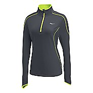 Womens Saucony Omni Drylete Sportop Long Sleeve 1/2 Zip Technical Tops