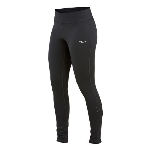 Womens Saucony Siberius Fitted Tights - Black XL