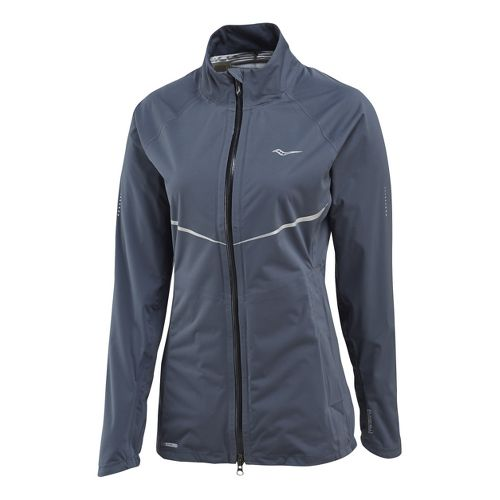 Womens Saucony Razor Running Jackets - Carbon M