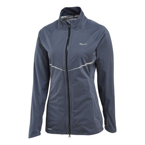 Womens Saucony Razor Running Jackets - Carbon XL