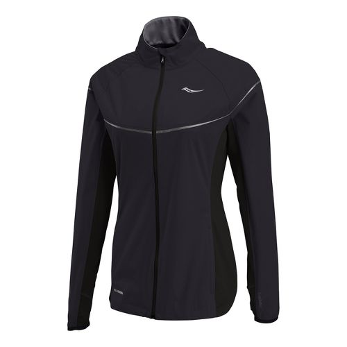 Womens Saucony Nomad Running Jackets - Black M