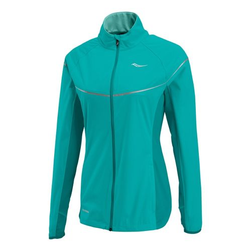 Womens Saucony Nomad Running Jackets - Jade/Sea Green S