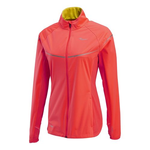 Womens Saucony Nomad Running Jackets - Vizipro Electric/Vizipro Citron XL