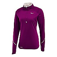 Womens Saucony Nomad Sportop Long Sleeve 1/2 Zip Technical Tops