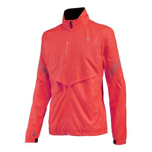 Womens Saucony Sonic Vizi Running Jackets - Vizipro Electric XL