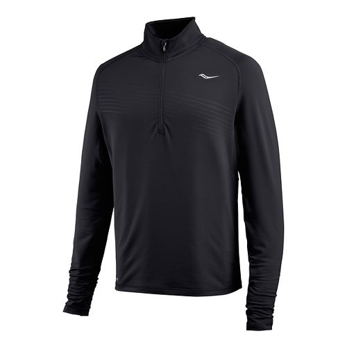 Mens Saucony Run Strong Sportop Long Sleeve Technical Tops - Black XL