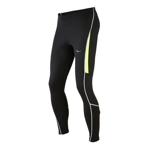 Mens Saucony Omni LX Fitted Tights - Black/Vizipro Citron L