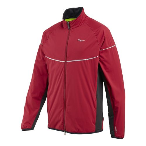 Mens Saucony Nomad Running Jackets - Crimson/Black S