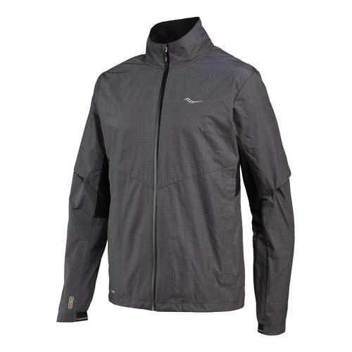 Mens Saucony Sonic Reflex Running Jackets - Carbon M