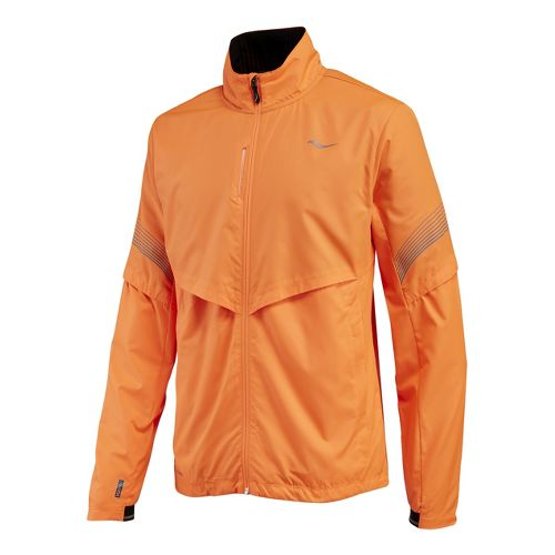 Mens Saucony Sonic Vizi Running Jackets - Vizipro Orange L