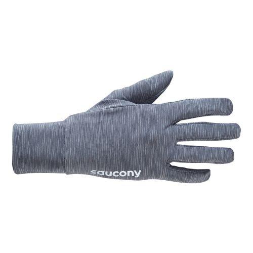 Womens Saucony Swift Glove Handwear - Carbon L
