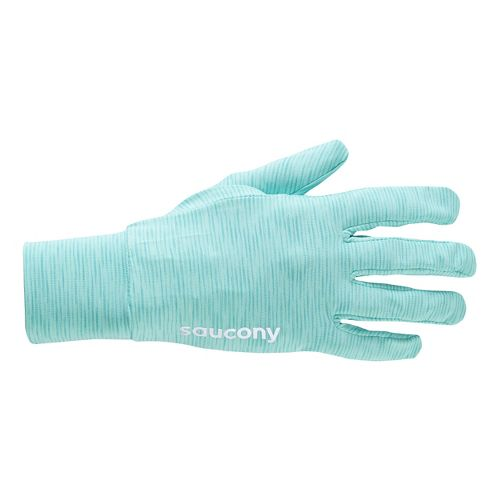 Womens Saucony Swift Glove Handwear - Sea Green L