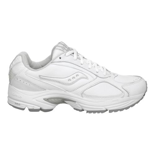 Mens Saucony Grid Omni Walker Walking Shoe - White/Silver 7.5