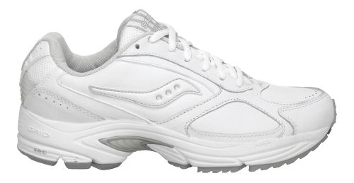 Womens Saucony Grid Omni Walking Shoe - White/Silver 10.5