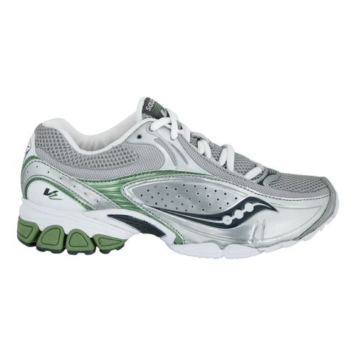Womens Saucony Grid V2 Cross Training Shoe - Silver/Green 7.5