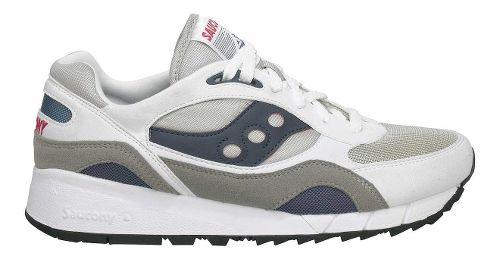 Mens Saucony Shadow 6000 Running Shoe - White 11