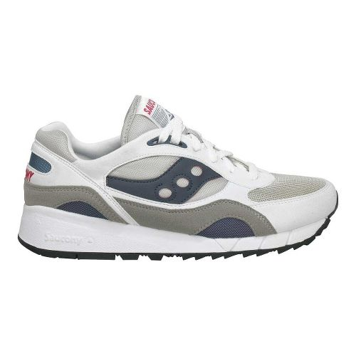 Mens Saucony Shadow 6000 Running Shoe - White 11