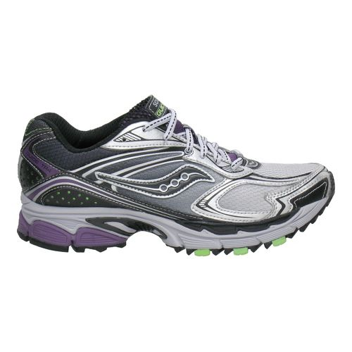 Womens Saucony ProGrid Guide TR4 Trail Running Shoe - Silver/Black 6.5