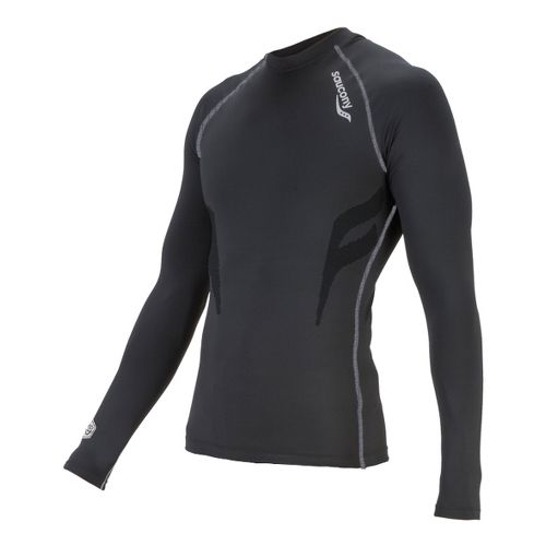 Womens Saucony Amp Pro Long Sleeve No Zip Technical Tops - Black M