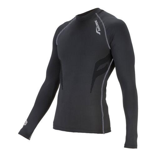 Womens Saucony Amp Pro Long Sleeve No Zip Technical Tops - Black XL