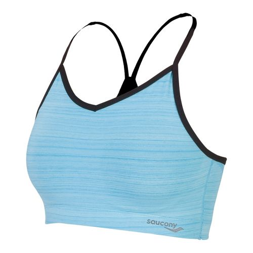 Womens Saucony Spark Sports Bras - Isis Blue/Black L