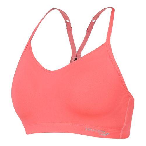 Womens Saucony Spark Sports Bras - Vizipro Coral M