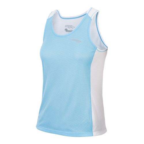 Womens Saucony Hydralite Tank Technical Tops - Isis Blue L