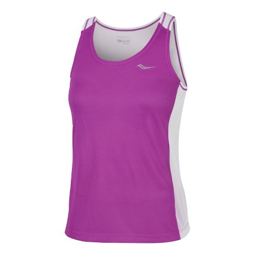 Womens Saucony Hydralite Tank Technical Tops - Passion Purple/White M