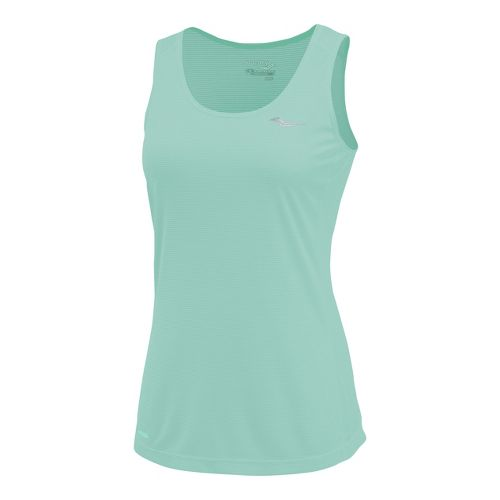 Womens Saucony Hydralite Tanks Technical Tops - Sea Green M