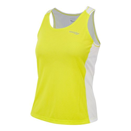 Womens Saucony Hydralite Tanks Technical Tops - Sipher/White L