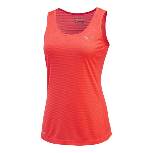 Womens Saucony Hydralite Tanks Technical Tops - Vizipro Electric XL